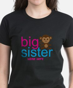 Personalized Big Sister Monkey Tee
