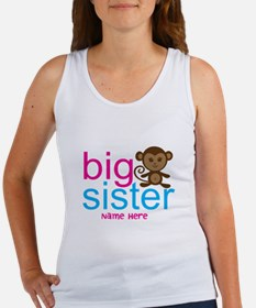 Personalized Big Sister Monkey Women's Tank Top