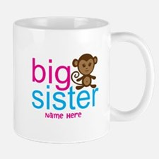 Personalized Big Sister Monkey Mug