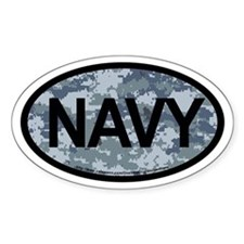 US Navy Camo Oval Decal