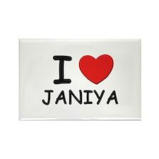 I love Janiya Rectangle Magnet