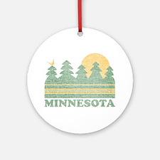 Vintage Minnesota Sunset Ornament (Round)