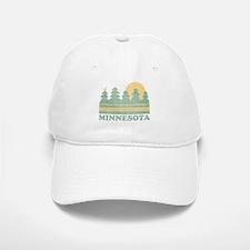 Vintage Minnesota Sunset Baseball Baseball Baseball Cap