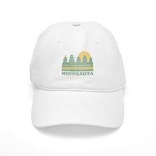 Vintage Minnesota Sunset Baseball Baseball Cap