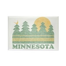 Vintage Minnesota Sunset Rectangle Magnet