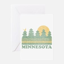 Vintage Minnesota Sunset Greeting Card