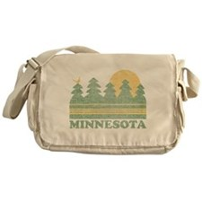 Vintage Minnesota Sunset Messenger Bag