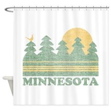 Vintage Minnesota Sunset Shower Curtain