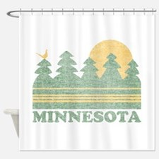 Vintage Minnesota Sunset Shower Curtain