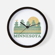 Vintage Minnesota Sunset Wall Clock