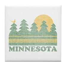 Vintage Minnesota Sunset Tile Coaster
