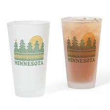 Vintage Minnesota Sunset Drinking Glass