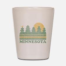 Vintage Minnesota Sunset Shot Glass