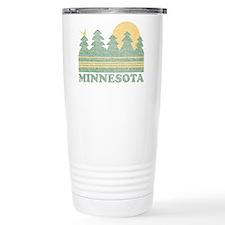 Vintage Minnesota Sunset Travel Mug