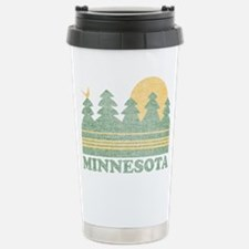 Vintage Minnesota Sunset Travel Mug