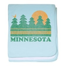Vintage Minnesota Sunset baby blanket
