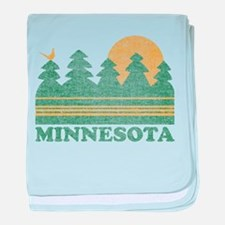 Vintage Minnesota Sunset baby blanket