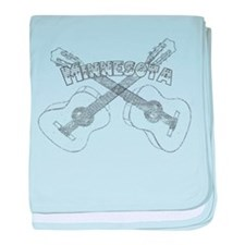 Minnesota Guitars baby blanket