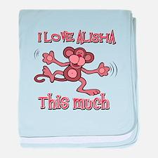 I love Alisha baby blanket