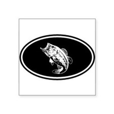Bass fishing negative Oval Sticker