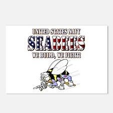 US Navy Seabees RWB Postcards (Package of 8)
