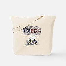 US Navy Seabees RWB Tote Bag