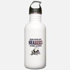 US Navy Seabees RWB Water Bottle