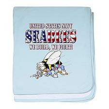 US Navy Seabees RWB baby blanket