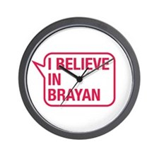 I Believe In Brayan Wall Clock