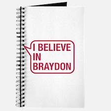 I Believe In Braydon Journal
