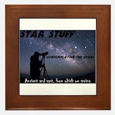 Star Stuff contemplating the stars Framed Tile