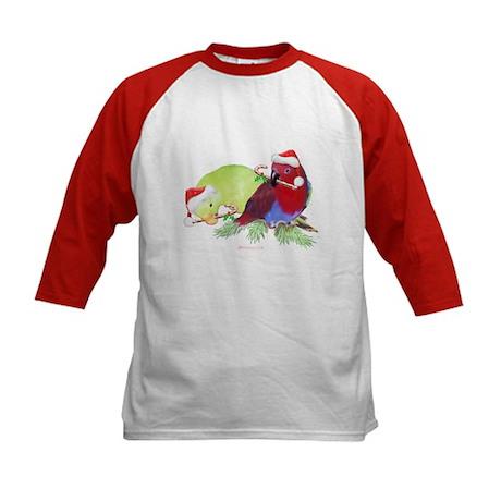 Trish's Parrots Christmas Kids Baseball Jersey