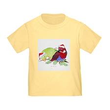 Trish's Parrots Christmas T