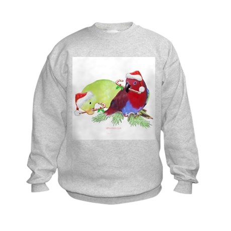 Trish's Parrots Christmas Kids Sweatshirt