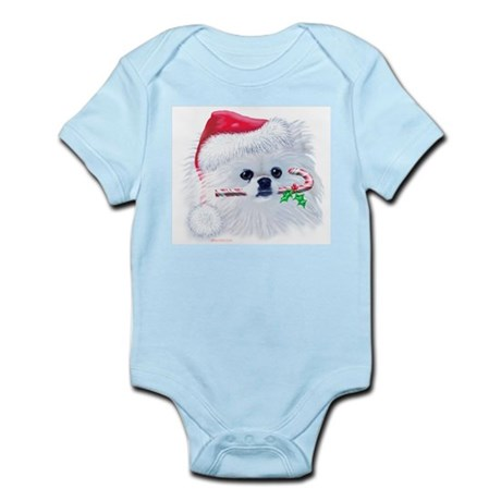 Trish's Pomeranian Christmas Infant Bodysuit