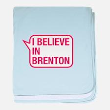 I Believe In Brenton baby blanket