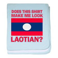 Laotian Flag Designs baby blanket