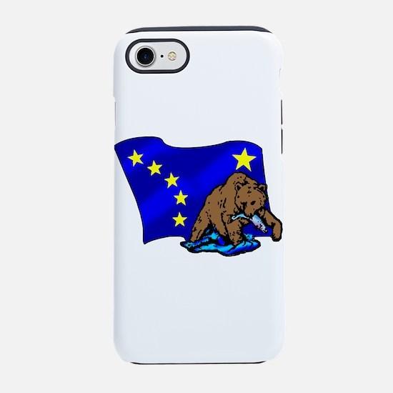 Alaskan Bear Flag iPhone 7 Tough Case