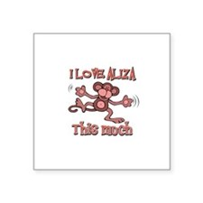 "I love Aliza Square Sticker 3"" x 3"""