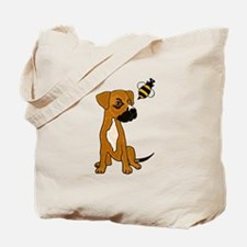 Boxer Mix Puppy Dog and Bee Tote Bag