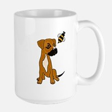 Boxer Mix Puppy Dog and Bee Mug