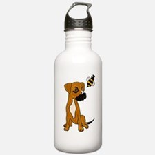 Boxer Mix Puppy Dog and Bee Water Bottle