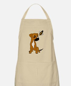 Boxer Mix Puppy Dog and Bee Apron