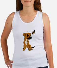 Boxer Mix Puppy Dog and Bee Tank Top