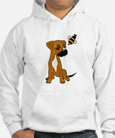 Boxer Mix Puppy Dog and Bee Hoodie