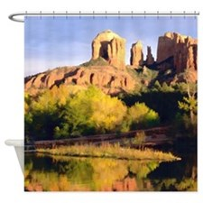 Red Rocks of Sedona Arizona copy Shower Curtain