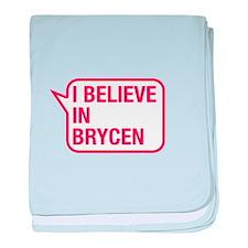 I Believe In Brycen baby blanket