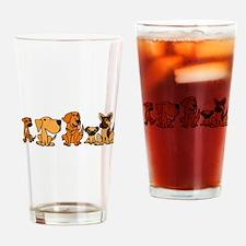 Rescue Dog Cartoon Drinking Glass