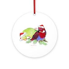 Trish's Parrots Christmas Ornament (Round)
