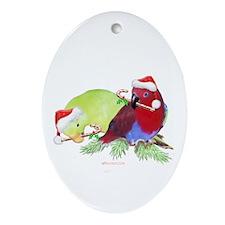Trish's Parrots Christmas Oval Ornament
